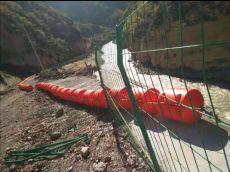河道飘浮物拦截浮筒水上隔离垃圾拦污排工艺