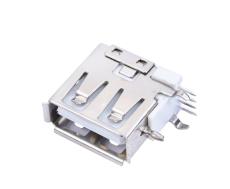 A母USB側插短體反向母座USB側立式DIP插板母
