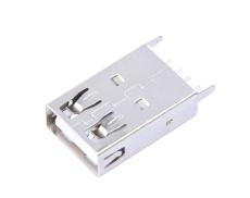 A母USB直插19.6加長母座DIP立式插板直邊USB