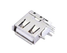 A母側插USB短體母座直腳DIP插板側立USB母座