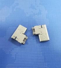 TYPE C母座侧插14P 垫高型USB3.1母头四脚