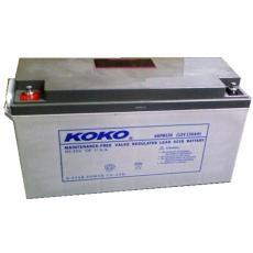 KOKO閥控式鉛酸蓄電池6GFM80 12V80AH儀器