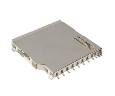 SD卡座长体二合一SD加MMC卡座带检测脚11P