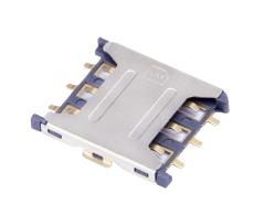 Nano Sim卡座抽屉式6pin贴片1.35H推拉式