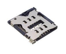 SIM卡座6P卡托式插拔电子配件批发卡槽连接