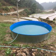 河北省養殖帆布魚池高密度錦鯉魚池定制尺寸