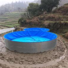 廣西省養殖帆布魚池高密度錦鯉魚池定制尺寸