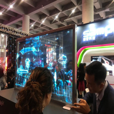 電容觸摸OLED透明屏 55英寸OLED透明顯示屏