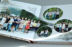 延安相冊制作水晶皮面同學聚會紀念冊設計
