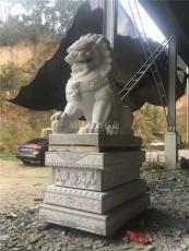 訂購石雕獅子 門口石獅南北獅 石材獅子定做