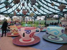 室外廣場8杯旋轉咖啡杯