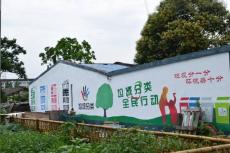 南京文化墻彩繪CH-1 垃圾分類墻體繪畫