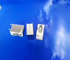 側插大電流短體TYPE C母座LCP米黃膠 鐵殼