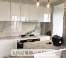 石英石台面不锈钢厨房橱柜定做不锈钢橱柜