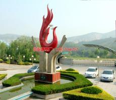 企业花坛不锈钢雕塑 不锈钢企业标志雕塑厂