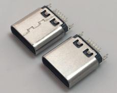 TypeC�A板母座typec3.1母�^180度12p�A板