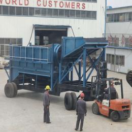 移动采金车型号 俄罗斯中小型沙金移动筛选