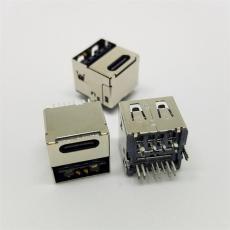 USB 3.1 TYPE C母座14P加USB�p面插 二合一