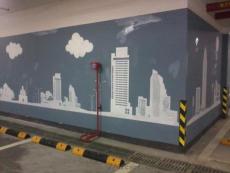 蘇州大型寫字樓車庫停車場彩繪CH-3 不掉色
