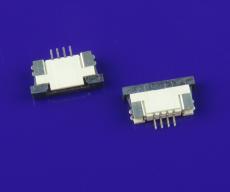FPC連接器4P  1.0mm間距H2.5mm臥式貼片下接