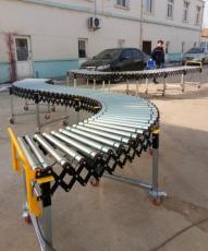 動力伸縮式滾筒輸送機可以提高輸送貨物效率