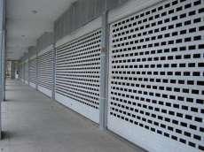 上海嘉定区铝合金型材门 铝合金冲孔卷帘门