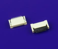 FPC連接器 0.5mm間距H2.0前插后掀蓋式 12P