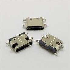 USB 3.1 TYPE C母座沉板1.6 16P無彈 破板式
