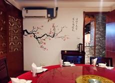 常州中式餐館包間墻體繪畫新款 現場手繪墻1