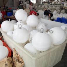 海上白色圓形浮球航道警示浮漂生產造價