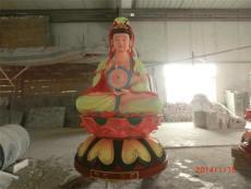 深圳樹脂觀音文殊普賢玻璃鋼佛像雕塑廠家