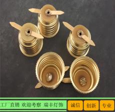 中山铁镀E27灯头 E26铜铁螺口灯头批发