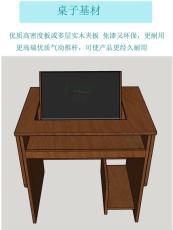 多功能屏風考試桌駕校電腦桌手動電腦翻轉桌