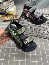 浙江温州迷彩上线不开胶男童沙滩凉鞋批发