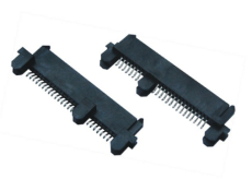 SATA 7加15P母座SMT 22PIN夾板式SATA連接器