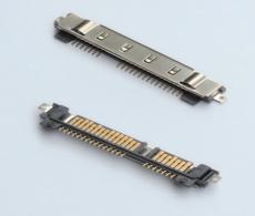 SATA7加15P SMT  加鐵殼SATA22P硬盤連接器