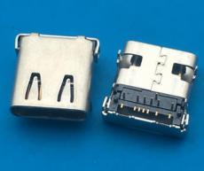 半包型14P四腳插板TYPE C母座  DIP加SMT