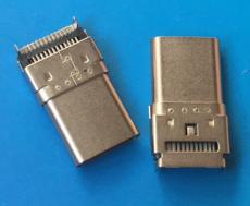 沉板雙貼TYPE C 24P貼片公頭臥式USB3.1母座