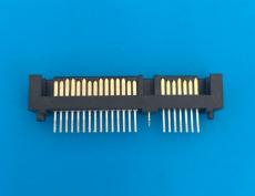 SATA22p 貼片式 7加15p公頭三面包插板