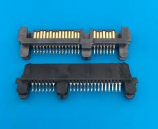夾板1.2SATA7加15p母座 連接器SATA22p夾板