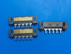 SATA15p公頭 15pSATA連接器鉚壓硬盤連接器