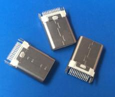 白膠TYPE C夾板公頭24P兩腳固定 USB3.1插頭
