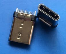 夾板式 TYPE C 24P公頭 夾板0.8 USB3.1插頭