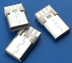 白膠 焊線式TYPE C公頭8P 簡易型圓口充電