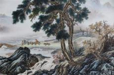 华豫之门本月海选交易价格 鉴定山水瓷板画