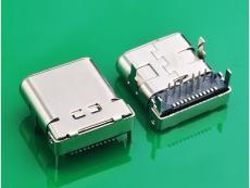 TYPE C 3.1母头加长四脚DIP板上双壳10.0MM