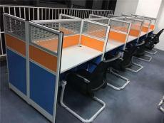合肥鋼架工位桌板式卡座鋁合金辦公桌出售