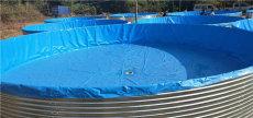 新型高密度養殖帆布水池安裝快速排污方便