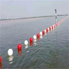 海上塑料浮球 钢绳串联式警示浮球
