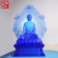 琉璃背光藥師佛 藥師七佛壇城佛像 琉璃工廠